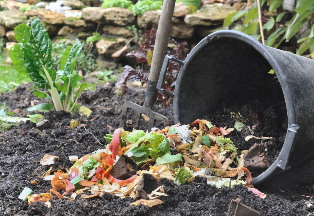 Mixing-Compost-with-Soil